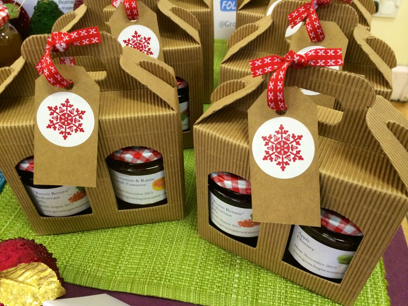 Homegrown jam gift boxes