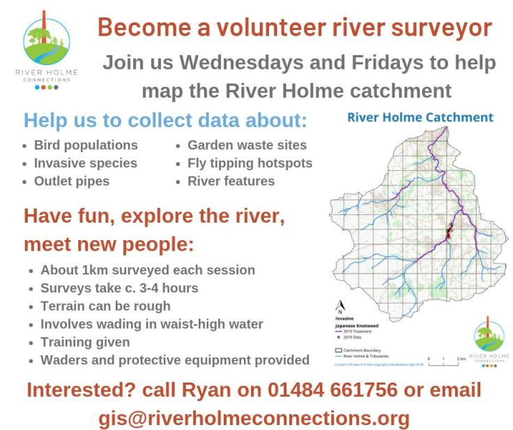 Be a river surveyor